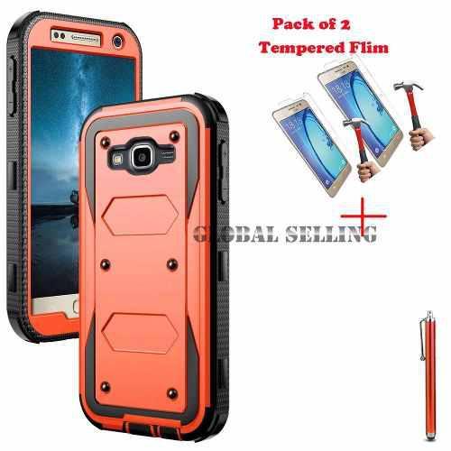 Samsung Galaxy Sm-j120a - Orange - Híbrida A Prueba De