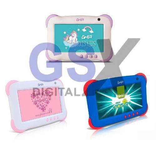 Tablet 7 Ghia Kids Uso Rudo Azul Rosa Unicornio Android