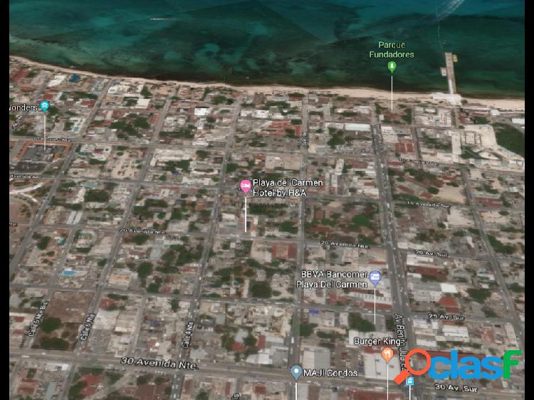 Terreno en el centro de Playa del Carmen