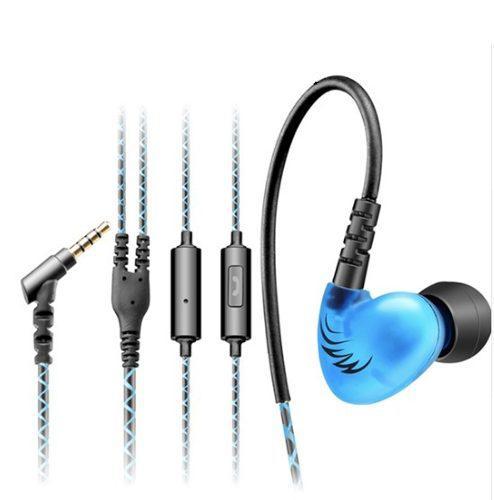 Audífono Monitor Personal Chicharo Qkz S6 Azul C/ Micro