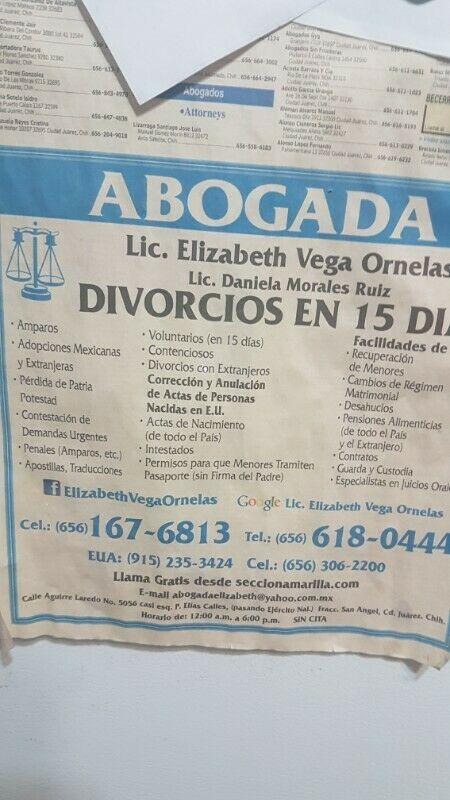 Divorcios en dos semanas en Ciudad Juárez