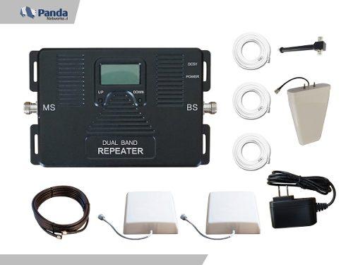 Kit Antena Amplificador De Señal Celular 4g 2 Antenas