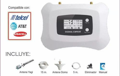 Kit Repetidor 4g Lte Amplificador Booster T/ Las Compañias