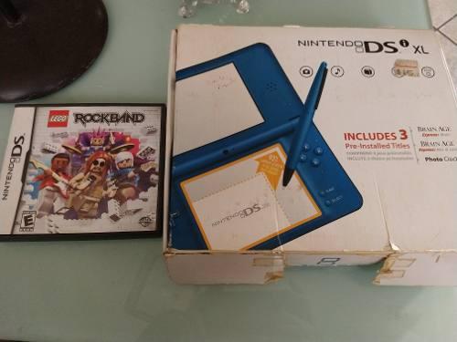 Nintendo Dsi Xl Azul + Juego Lego Rock Band