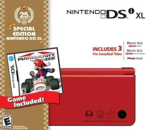 Nintendo Dsi Xl Rojo Liar Con Mario Kart