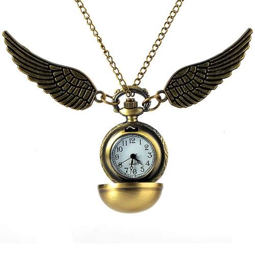 Reloj De Bolsillo Snitch Harry Potter + Snitch + Bolsita