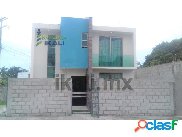 Rento casa 2 recamarás Col. Ampliación Veracruz Poza Rica