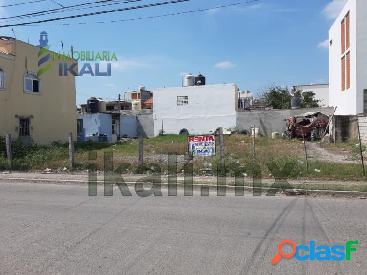 Rento terreno 400 m² Col. Floresta Poza Rica Veracruz, La
