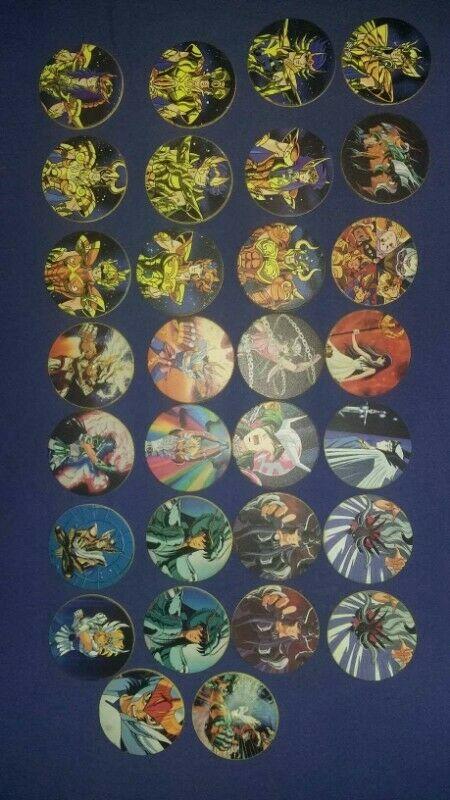 Tazos de Caballeros del Zodiaco, Looney Tunes y Otros