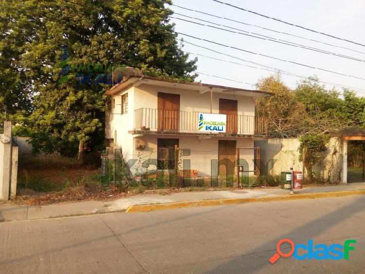 rento local comercial 336 m² frente al río Tuxpan