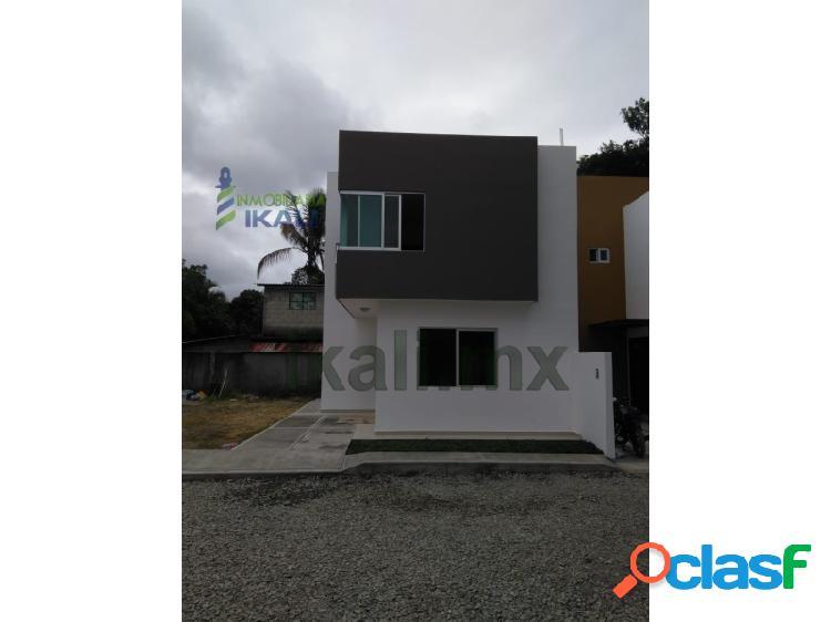 vendo casa nueva col Banderas Tuxpan Veracruz se entrega