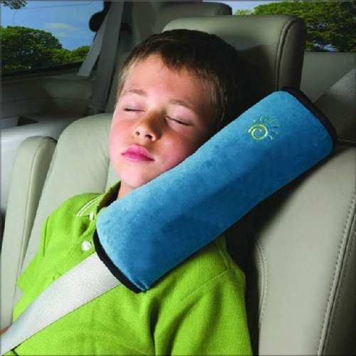 Almohada Para El Cinturón De Seguridad De Bebé Azul