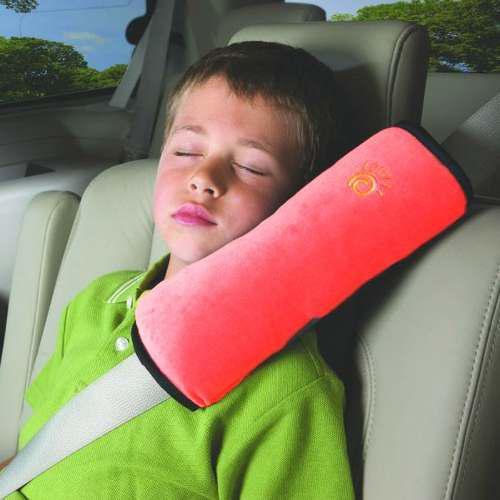 Almohada Para El Cinturón De Seguridad De Bebé Rojo