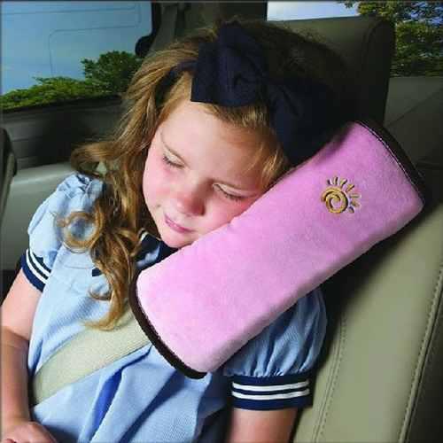 Almohada Para El Cinturón De Seguridad De Bebé Rosa