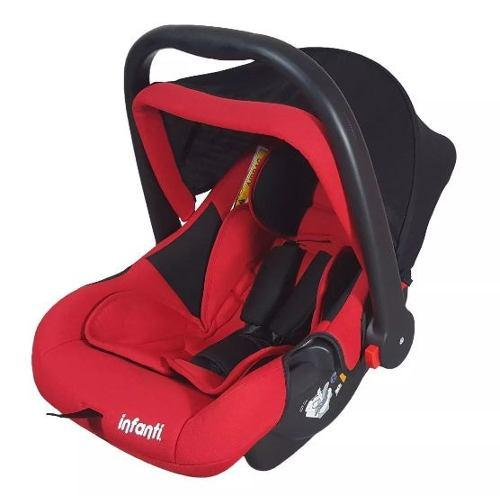 Autoasiento Portabebe Silla De Auto Infanti Airbag Rojo