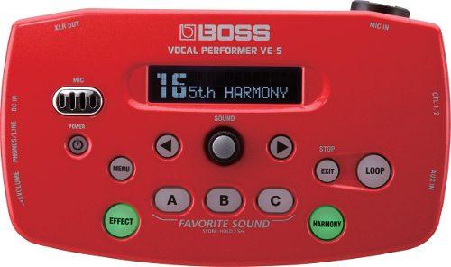 Boss Ve-5-rd Procesador De Efectos Vocales En Rojo