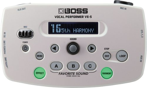 Boss Ve-5-wh Procesador De Efectos Vocal En Blanco