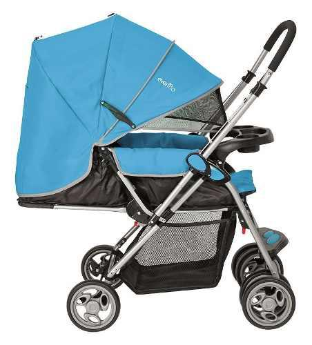 Carriola De Bebe Evenflo Grand Trip Mango Reversible - Azul