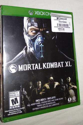Mortal Kombat Xl Xbox One Nuevo Y Sellado Envio Inmediato