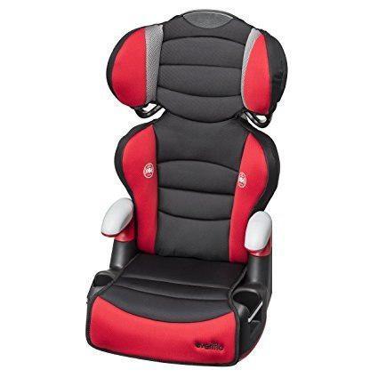 Silla Asiento Elevador Para Bebe Negro Rojo Auto Asiento Msi