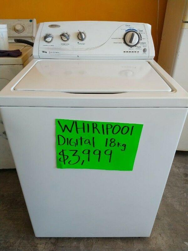 lavadora whirlpool de 18kg digital