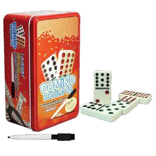 Domino Doble 12 Juego Mesa Domino 91 Fichas Estuche Pasta