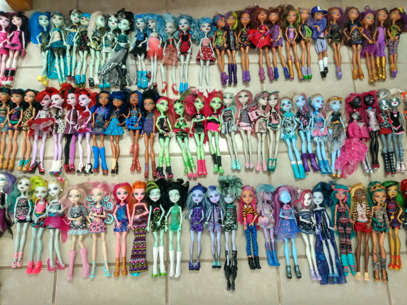 Muñecas y accesorios monster high