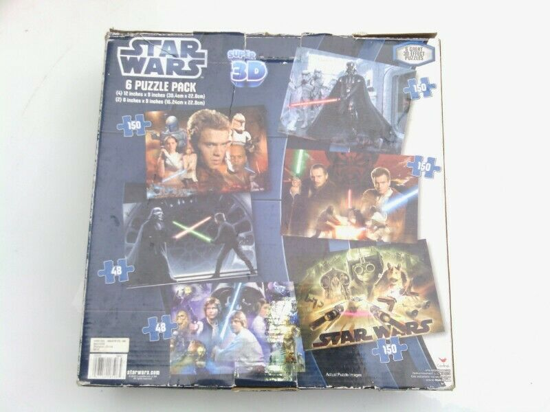 Rompecabezas 6 puzzle pack Star Wars 6 puzzles