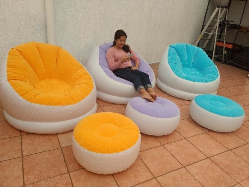 SILLON INFLABLE CON REPOSAPIES!!!