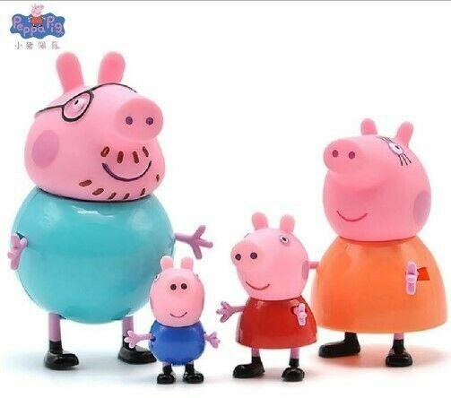 Set De 4 Piezas Peppa Pig Familia