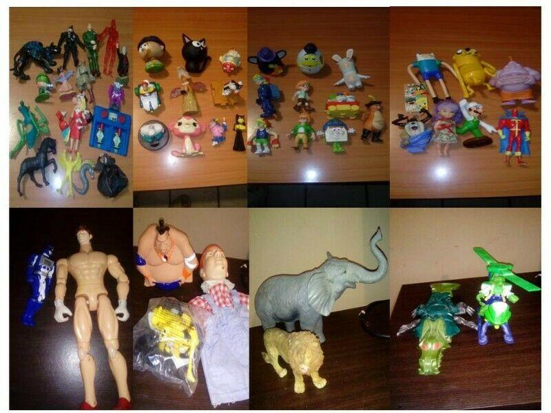 lote 55 piezas de figuras y promocionales