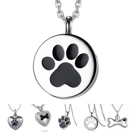 1 Collar Urna Relicario Cenizas Cremación Perro Gato
