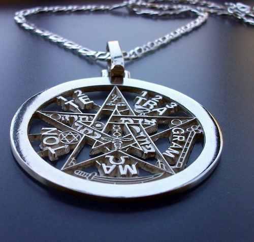 Cadena, Dije De Tetragramaton Pentagrama En Plata.925