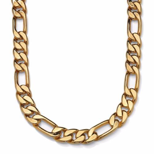 Cadena Figaro 3 X 1 De Oro Macizo 14k 60cm. 70grs Solid Gold