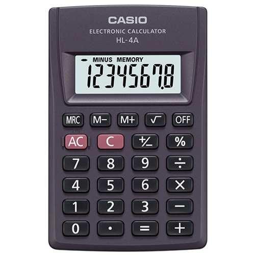Calculadora Casio Básica 8 Digitos Hl-4a 10 Piezas
