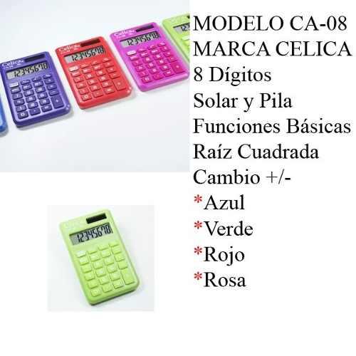 Calculadora Celica De Bolsillo Ca-08 Incluye Envio