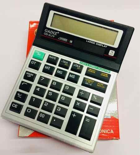 Calculadora Electrónica Gadiz Modelo Gd-612v