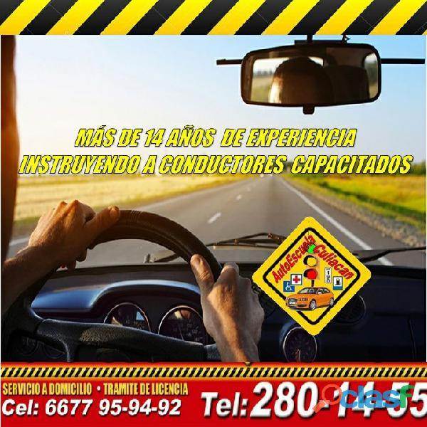 Clases de manejo en Culiacán, ven hoy y aparta!