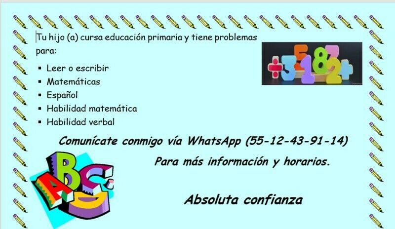 Clases de regularización educación primaria