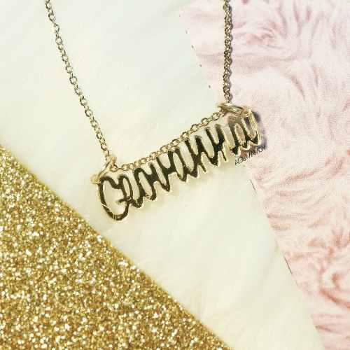 Collar Nombre Personalizado Cadena Acero Inoxidable