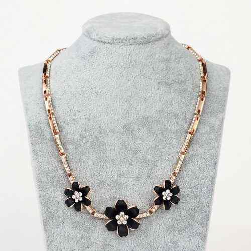Collar Oro Y Cristal Swarovski Fino Diseño El Mejor Regalo!