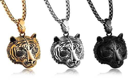 Collar Tigre Titanio + Cadena De Regalo + Envío Gratis