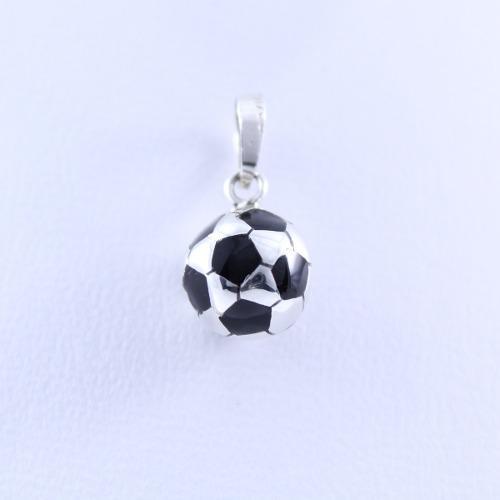 Dije De Balón De Fútbol De Plata.925 Joyería