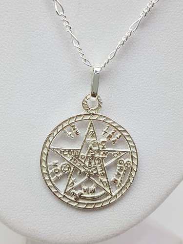 Dije De Tetragramaton Grande Plata Ley.925 Incluye Cadena