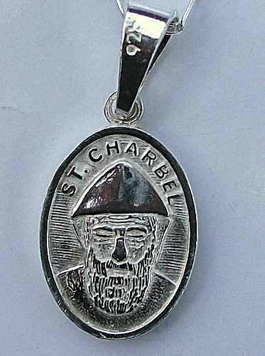 Dije Medalla San Charbel En Plata Ley.925