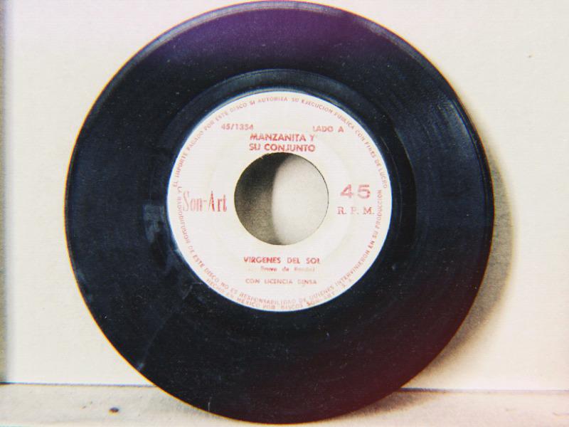 Disco acetato vinil 45rpm manzanita y su conjunto -