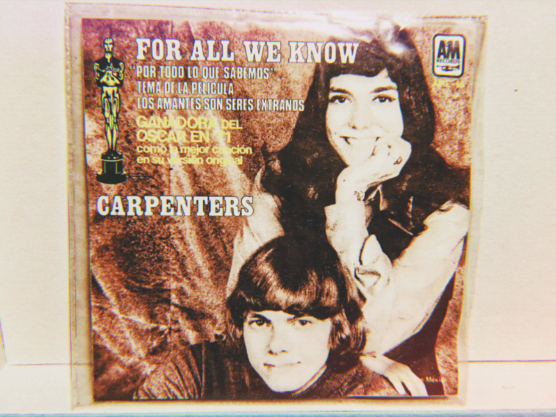 Disco ep vinil acetato 45 rpm the carpenters - for all we