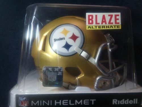 Oferta! Nfl Mini Casco Blaze Pittsburgh Steelers