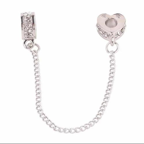 Pandora Cadena Seguridad Corazón Charms Envío Gratis