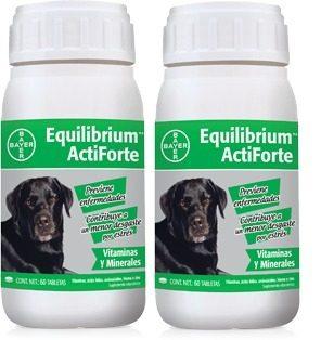 2 Equilibrium Actiforte Bayer 60 Tabletas Perros